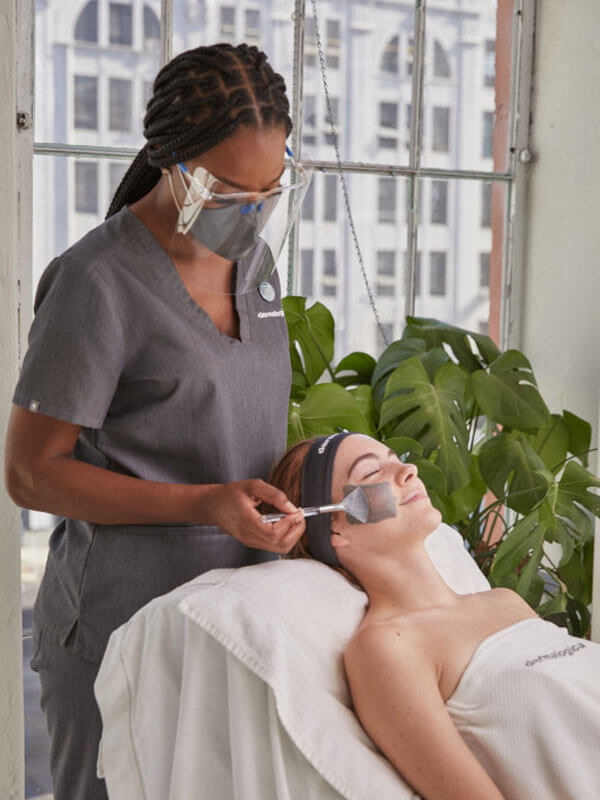 A therapist providing a treatment